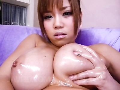 Big tits asian fucked by two..