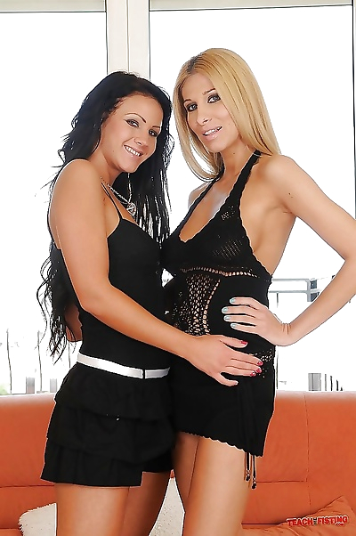 Naughty lesbians with..