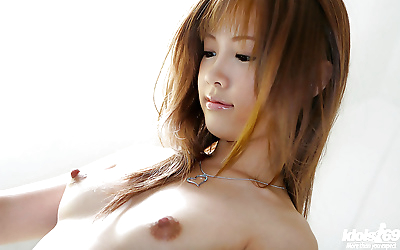 Lovely asian babe with sexy..