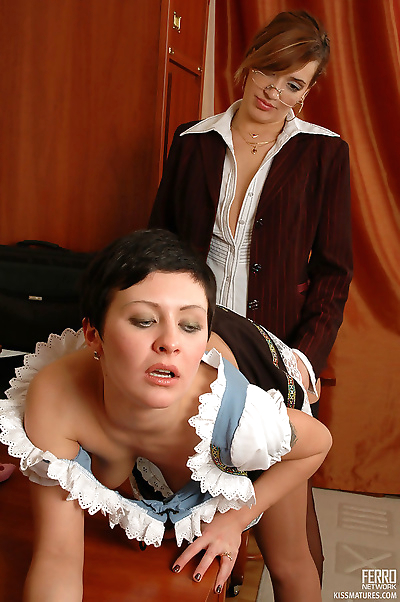 Naughty french maid licking..
