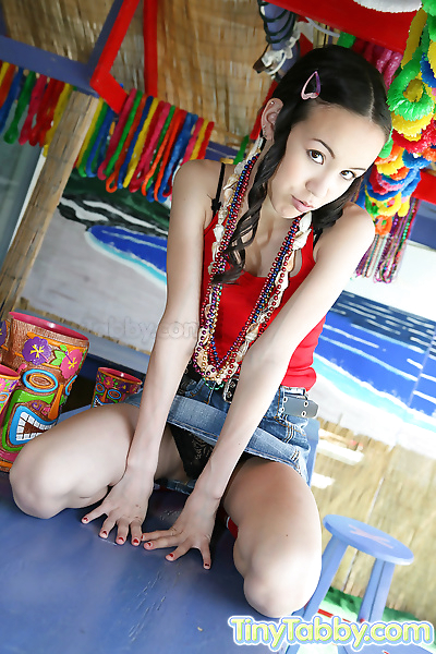 Petite teen spreads and..