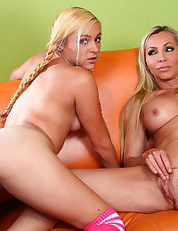Mom and daughter having a deep pussy fuck - part 670