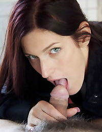 Brunette beauty and her sugar daddy kiss deeply before and after fucking