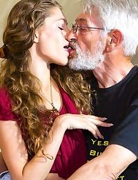 Flexible young girl Rebel Lynn gets banged hard by her really old boyfriend