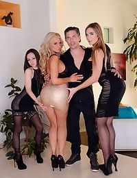 3 of the top pornstars of today pose non nude in heels and tight clothing